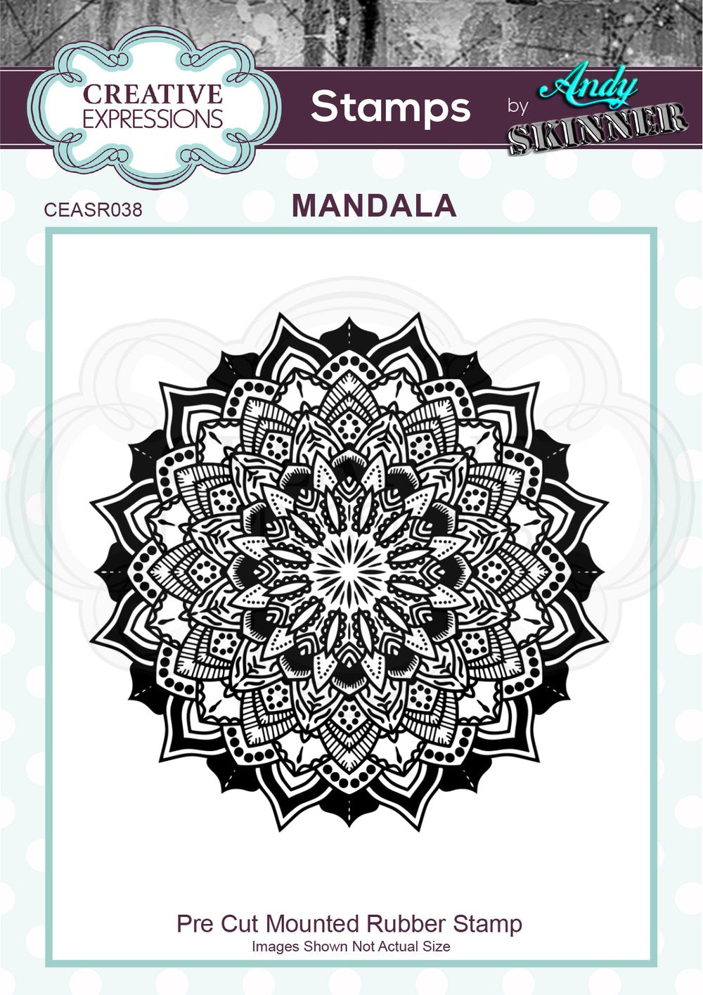 Creative Expressions - Rubber Cling Stamp - Andy Skinner - Mandala