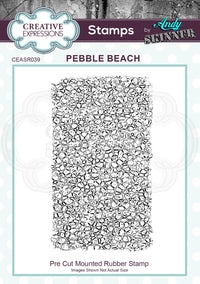 Creative Expressions - Rubber Cling Stamp - Andy Skinner - Pebble Beach