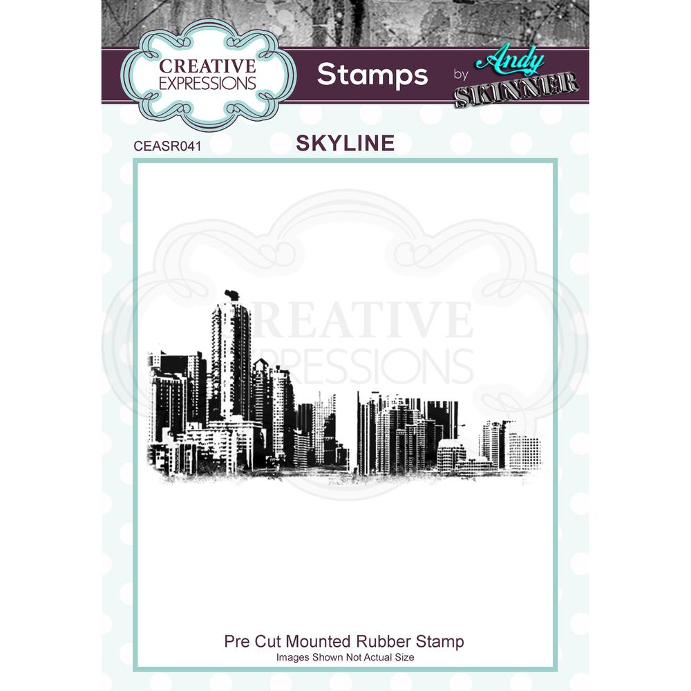 Creative Expressions - Rubber Cling Stamp - Andy Skinner - Skyline