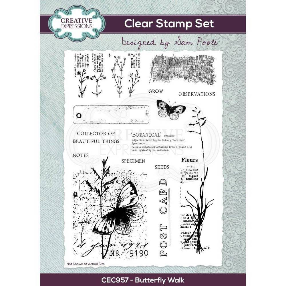 Creative Expressions - Butterfly Walk - Clear Stamp Set - Sam Poole