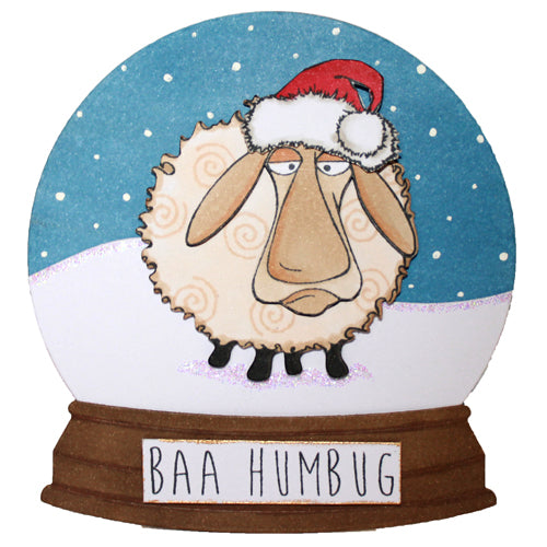 Hobby Art Stamps - Clear Polymer Stamp Set - Baa-Humbug