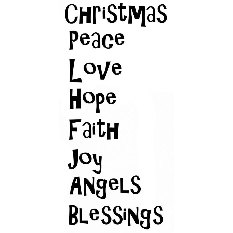 Lavinia - Christmas Blessings - Clear Polymer Stamp