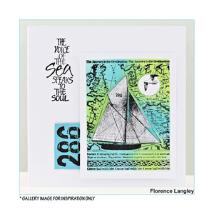 Crafty Individuals - Unmounted Rubber Stamp - 457 - Come Sail with Me - Sailboat