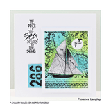 Crafty Individuals - Unmounted Rubber Stamp - Come Sail with Me - Sailboat