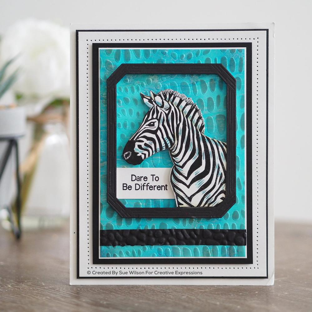 Creative Expressions - Rubber Cling Stamp - Sue Wilson Safari Collection - Zebra
