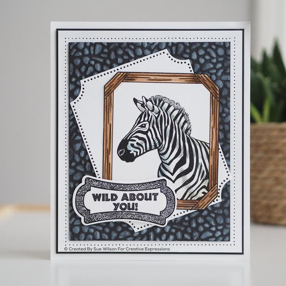 Creative Expressions - A5 - Clear Stamp Set - Sue Wilson Safari Collection - Wild About You