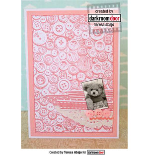 Darkroom Door - Background Stamp - Buttons - Red Rubber Cling Stamps