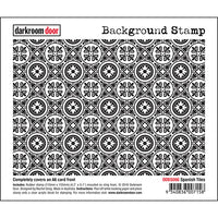 Darkroom Door - Background Stamp - Spanish Tiles - Red Rubber Cling Stamps