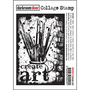 Darkroom Door - Collage Stamp - Create Art - Red Rubber Cling Stamps