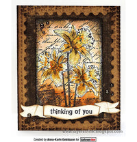 Darkroom Door - Dear Daffodils - Red Rubber Cling Stamps