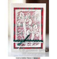 Darkroom Door - Inky Irises - Red Rubber Cling Stamps