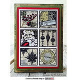 Darkroom Door - Christmas Post - Red Rubber Cling Stamps