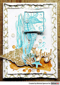 Darkroom Door - Seaside Squares - Red Rubber Cling Stamps