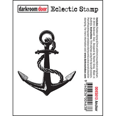 Darkroom Door - Anchor - Red Rubber Cling Stamp