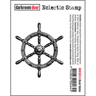 Darkroom Door - Boat Helm - Red Rubber Cling Stamp