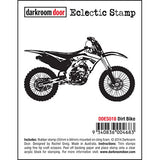 Darkroom Door - Dirt Bike - Red Rubber Cling Stamp