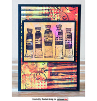 Darkroom Door - Eclectic Stamp - Paint Tubes - Red Rubber Cling Stamp