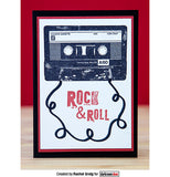 Darkroom Door - Cassette Tape - Red Rubber Cling Stamp