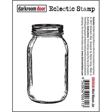 Darkroom Door - Frame Stamp - Mason Jar - Red Rubber Cling Stamps
