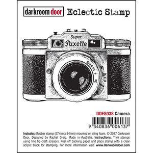 Darkroom Door - Camera - Red Rubber Cling Stamp