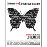 Darkroom Door - Butterfly Note - Red Rubber Cling Stamps