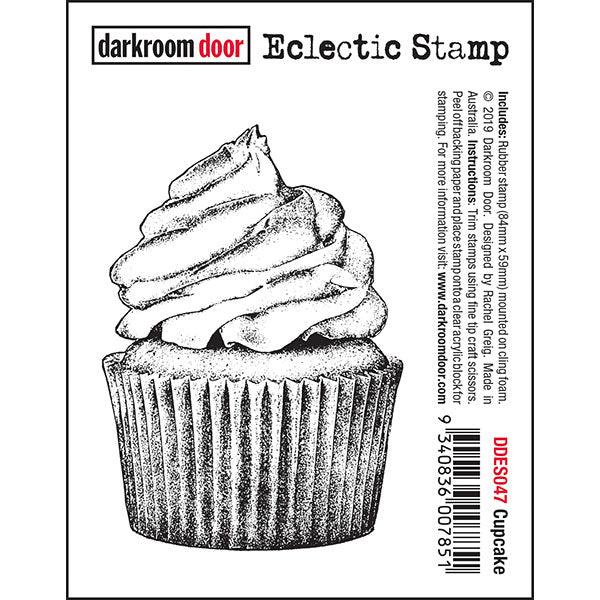 Darkroom Door - Cupcake - Red Rubber Cling Stamps