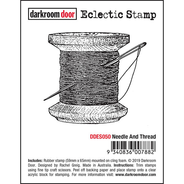 Darkroom Door -  Eclectic Stamp - Needle & Thread - Red Rubber Cling Stamps