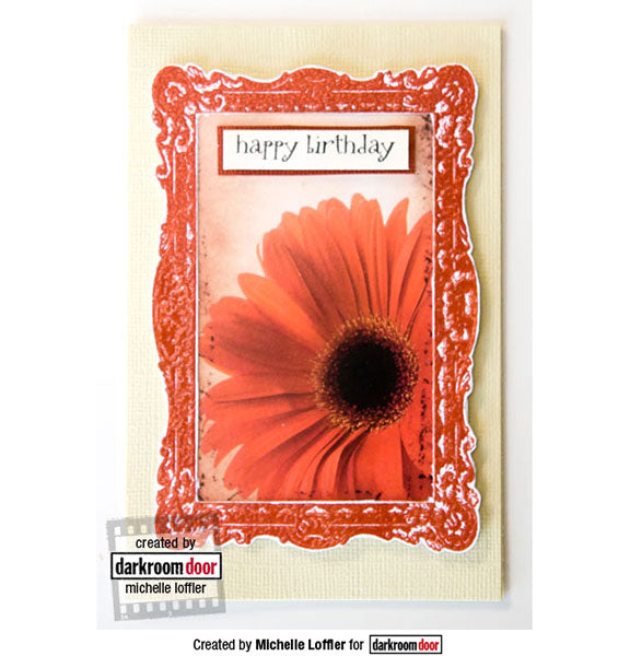 Darkroom Door - Regal Frame - Red Rubber Cling Stamps