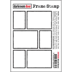 Darkroom Door - Frame Stamp - Mixed Boxes - Red Rubber Cling Stamps