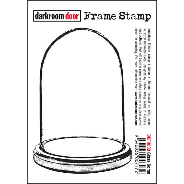 Darkroom Door - Glass Dome - Bell Jar - Red Rubber Cling Stamps