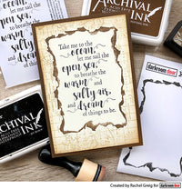 Darkroom Door - Frame Stamp - Burnt Edge - Red Rubber Cling Stamps