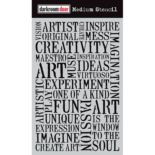 Darkroom Door - Medium Stencil - Creativity - Stencil