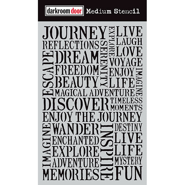 Darkroom Door - Medium Stencil - Journey - Stencil