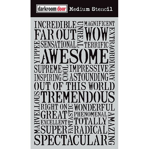 Darkroom Door - Medium Stencil - Awesome - Stencil