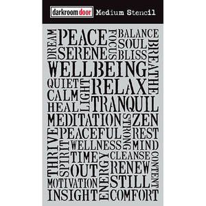 Darkroom Door - Medium Stencil - Wellbeing - Stencil