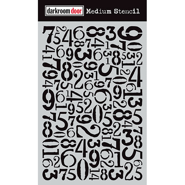 Darkroom Door - Medium Stencil - Number Jumble - Stencil