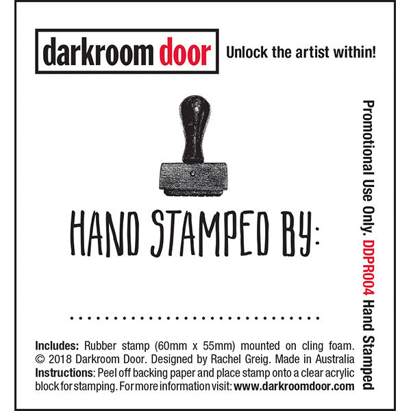 Darkroom Door - Hand Stamped - Red Rubber Cling Stamp