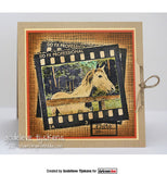 Darkroom Door - Horse - Rubber Cling Photo Stamp
