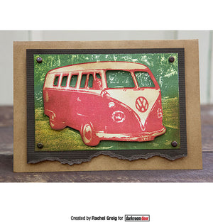 Darkroom Door - Photo Stamp - Kombi - Volkszwagen Van - VW Bus - Rubber Cling Photo Stamp