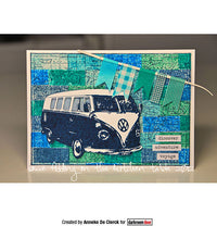 Darkroom Door - Kombi - Volkszwagen Van - VW Bus - Rubber Cling Photo Stamp