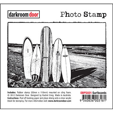 Darkroom Door - Surfboards - Rubber Cling Photo Stamp