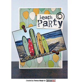 Darkroom Door - Photo Stamp - Surfboards - Rubber Cling Photo Stamp