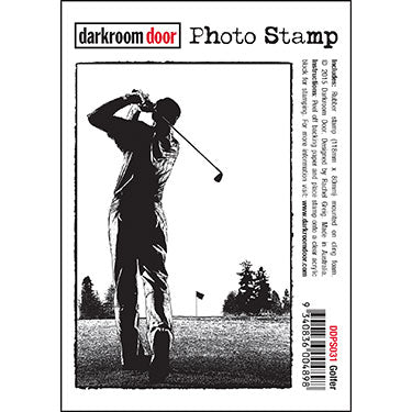 Darkroom Door - Golfer - Rubber Cling Photo Stamp