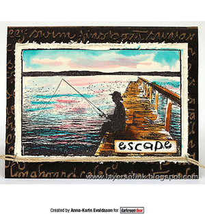 Darkroom Door - Fishing - Rubber Cling Photo Stamp