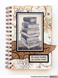 Darkroom Door - Book Stack - Rubber Cling Photo Stamp