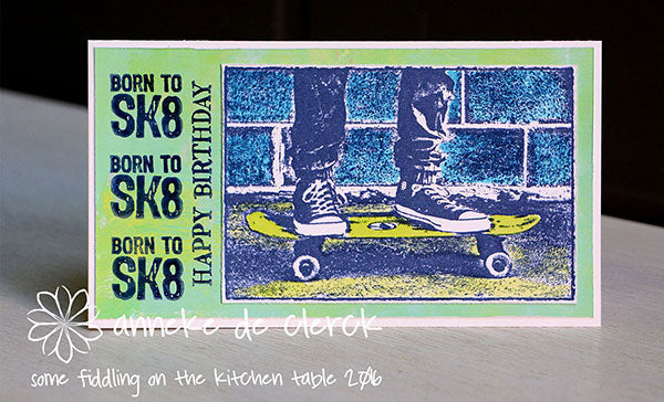 Darkroom Door - Skateboard - Rubber Cling Photo Stamp