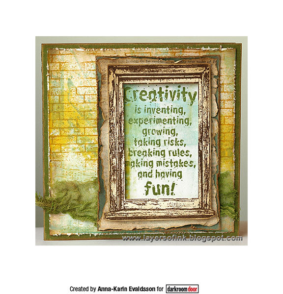 Darkroom Door - Quote Stamp - Creativity - Red Rubber Cling Stamp