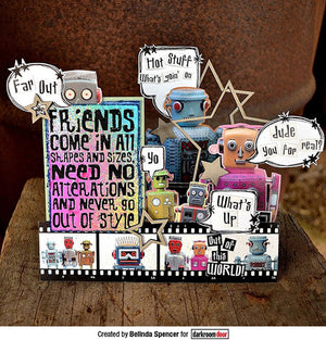Darkroom Door - Friends - Red Rubber Cling Stamp