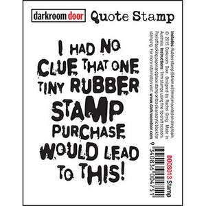 Darkroom Door - Quote Stamp - Stamp - Red Rubber Cling Stamp
