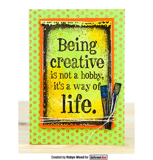 Darkroom Door - Quote Stamp - Being Creative - Red Rubber Cling Stamp